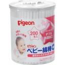 PIGEON Ватные палочки для детей с усиленным антибактериальным покрытием, тонкие 200 шт