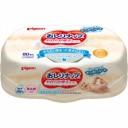 Влажные салфетки для детей PIGEON пропитаны молочным лосьоном возраст 0+ пластиковый бокс 80шт