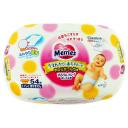 Влажные салфетки Merries для новорожденных (пластиковый бокс), розовые, 54 шт.