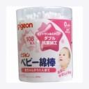 PIGEON Ватные палочки для детей с усиленным антибактериальным покрытием 108 шт