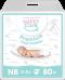 NappyClub Premium подгузники NewBorn (3-5кг) 80 шт